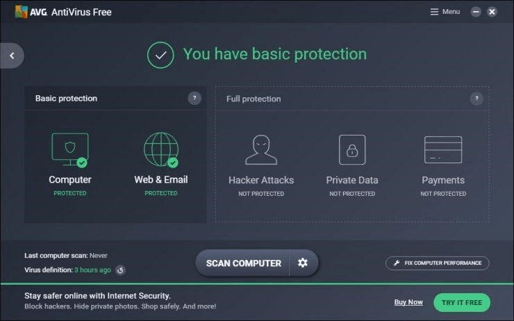 AVG Antivirus - Basic Protection