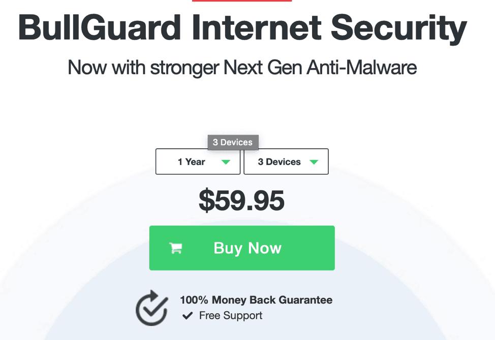 Bullguard Antivirus - 3 Device Plan Selector