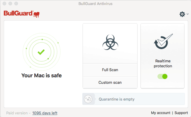 Bullguard Antivirus Mac Overview Screen
