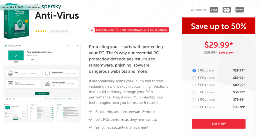 Kaspersky Antivirus Best Price