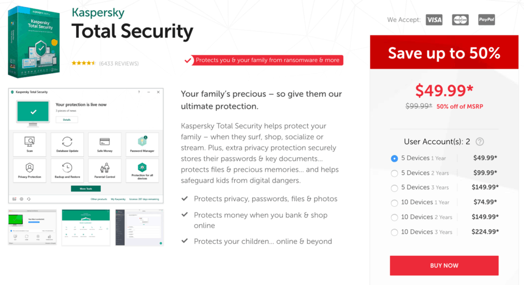 Kaspersky antivirus Total Security Best Price
