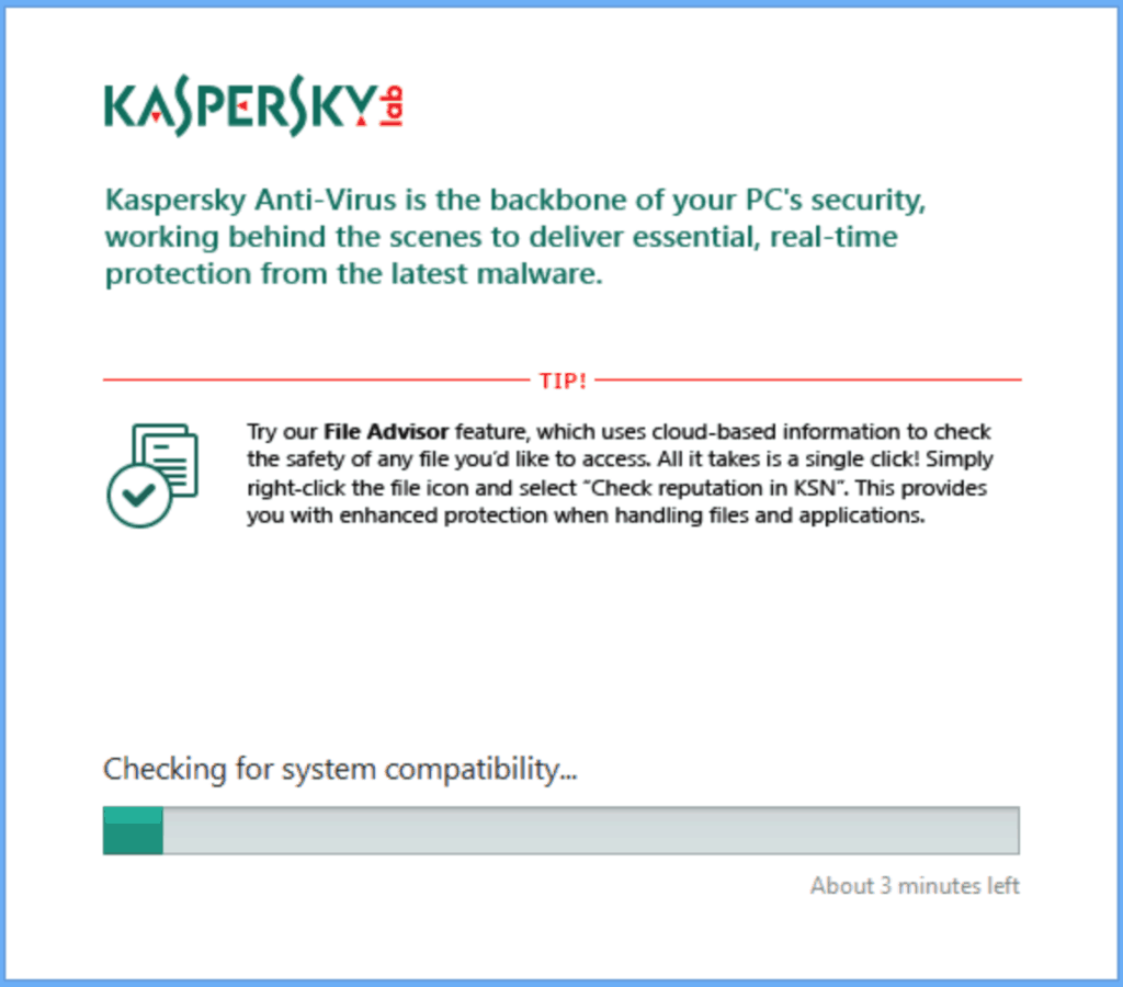 Kaspersky Antivirus Scanner Screenshot
