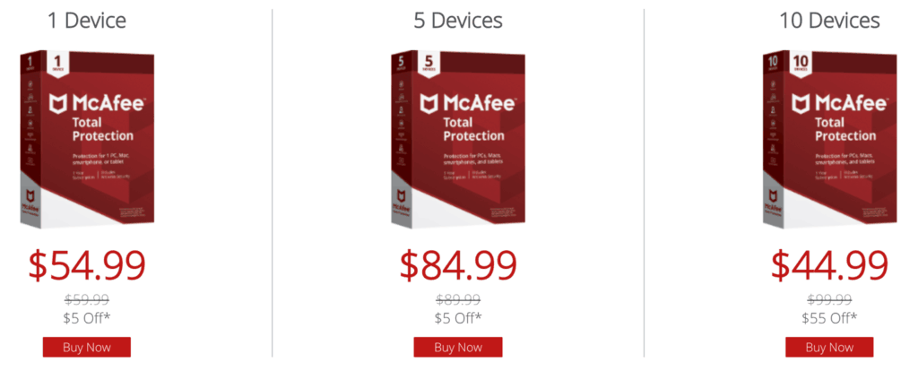 McAfee Plans and Best Pricing